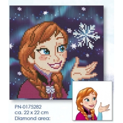 Diamond painting disney - Anna 22x22cm